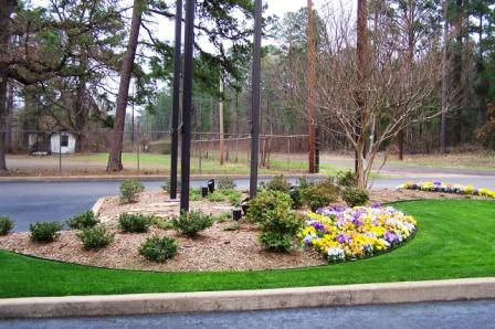 Landscape Design For Bank Drive In Banking.