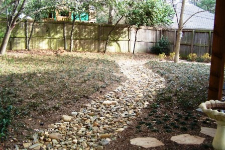 Solving drainage problems for Garden design back issues