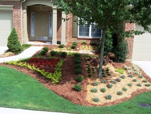 Small Spaces Landscaping Which Is Typical For Most Condo Developments. This  Condo Area Has A Landscape Maintenance Company That Does All Of The Mowing  In ...